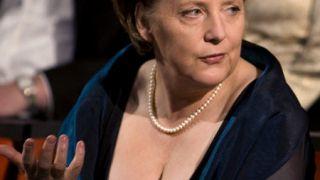 Η ξώβυζη Καγκελάριος της Γερμανίας Angela Merkel. (από Vrastaman, 02/09/08)