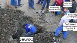 Ελληνικό δημόσιο-Ενας δουλεύει, οι άλλοι έχουν δυοξύνη (από GATZMAN, 05/02/09)