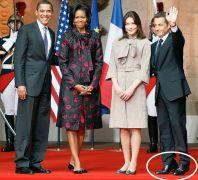 Sarkozy, Bruni και ζεύγος Ομπάμια. (από Khan, 14/08/09)