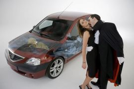 Dacia Dracula με σηματάκι τη νυχτερίδα... (από Khan, 24/08/09)