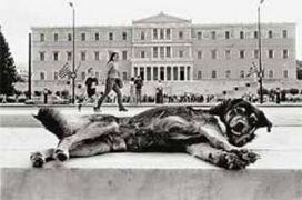 κομματόσκυλο έξω από το κυνοβούλιο, αράζων... (από BuBis, 30/09/09)