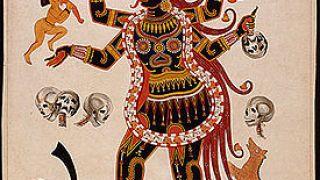 Η θεά Κάλι, γνωστή για το ότι μπορούσε να σερβίρει τέσσερεις φραπέδες ταυτοχρόνως. (από Khan, 19/10/09)