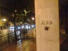 Το αρκτικόλεξο ACAB. Graffiti. Οδός Ακαδημίας, Αθήνα. (από patsis, 01/12/09)
