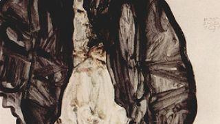 Egon Schiele, Αυτοπροσωπογραφία με το πουλί στο χέρι (από Khan, 02/02/10)