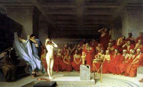 Ο Ζαν Λεόν Ζερόμ ειδικευόταν στις κλεψυδρομούνες, εδώ η Φρύνη, το μοντέλο για την Αφροδίτη της Κνίδου. (από Khan, 31/10/10)