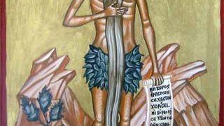Ο Αγ. Ονούφριος ο ασκητής (βοήθειά μας) με το παξιμαδιασμένο λουκ (από sstteffannoss, 11/12/10)