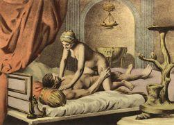 Η στάση Cow-girl φιλοτεχνημένη υπό Εδουάρδου Henri-Avril. (από Khan, 24/03/11)