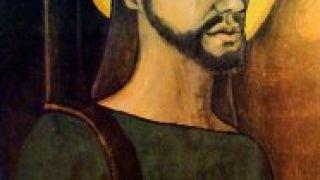 """""""Ο Χριστός αντάρτης"""", έργο του Alfredo Rostgaard, 1969, μάλλον επηρεασμένο από την """"Θεολογία της Απελευθέρωσης"""". Οι λατινοαμερικάνοι πιστοί είδαν """"κυριολεκτικά"""" τον Χριστό φαντάρο! (από Khan, 09/12/12)"""