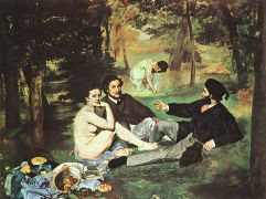 """Le dejeuner sur l\'herbe"" του Edouard Manet: ατενσιονχοριλίκι before it was cool. (από Khan, 07/12/13)"