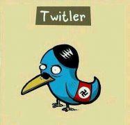Τουιτλεριάζω= Χιτλεριάζω με αυτά που γράφονται στο Τουίτερ και το απαγορεύω (τ. Ερντογάν). (από Khan, 26/03/14)