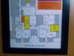 Σχεδιάγραμμα διαφυγής σε δωμάτιο ξενοδοχείου, Αχαρναί, Αττική. (από patsis, 30/06/14)