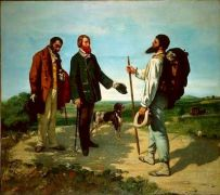 """Hipsters before it was cool: Gustave Courbet, """"Bonjour Monsieur Courbet"""", 1854, (από Khan, 12/07/14)"""