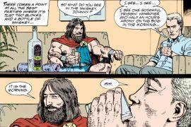 "Hellblazer #63, ""Forty"", 1993. Κόμικ, απόσπασμα. Αφορά σχόλιο του knasos. (από patsis, 04/01/15)"