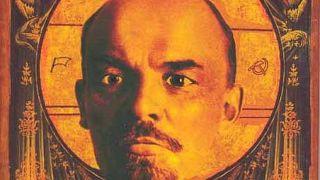 Ο Λένιν ως άγιος κατά τη maniera byzantina. (από Khan, 07/02/15)