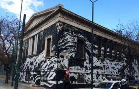 Άσπρισμα τοίχων Πολυτεχνείου με αφηρημένο εξπρεσιονισμό αλά Pollock, που μπορεί να επιτευχθεί και με τη μέθοδο που περιγράφει ο Στέφανος. (από Khan, 20/03/15)