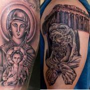 Η Παναγία στο ένα μπράτσο, ο Ηρακλής στο άλλο, όταν κάνεις πεκ ντεκ να γίνεται ελληνοχριστιανική σύνθεση (από Khan, 30/03/15)