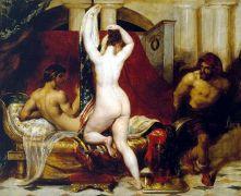 Ο Γύγης θεάται τη γυναίκα του Κανδαύλη, πίνακας του Etty. (από Khan, 02/04/15)