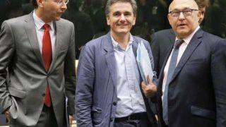 Ο υπουργός Οικονομικών Ευκλείδης Τσακαλώτος κατά τη διάρκεια διαπραγματεύσεων.