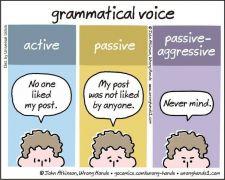 Η γραμματική της παθητικο-επιθετικότητας
