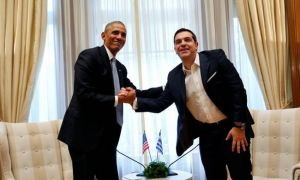 Ο Ομπάμα και Ο Μπάμιας #obama_athens #tsipras