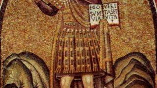 Ο Χριστός (Ρωμαίος) φαντάρος στο Παρεκκλήσι του Αρχιεπισκοπικού Παλατιού, Ραβένα, 5ος αιώνας