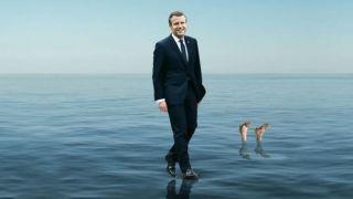 Ο... μεσσίας Μακρόν περπατάει στο νερό στο εξώφυλλο του Economist